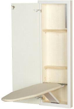 Ironing Board StowAway In-Wall White Prefinished Two Storage