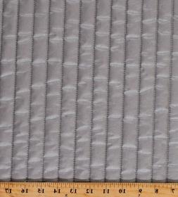 """Therma-Flec Quilted Heat Resistant Silver 43"""" Wide Fabric by"""
