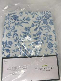 Threshold Wide Padded Cotton Ironing Board Cover Blue and Wh