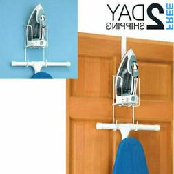 Wire Ironing Accessories Over The Door Caddy - And Board Sto